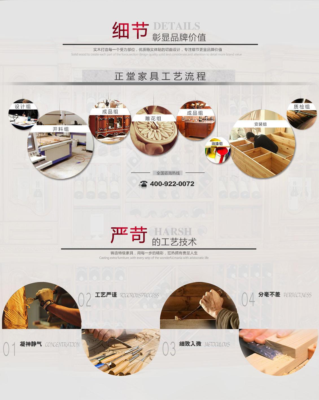 正堂实木家具制作流程