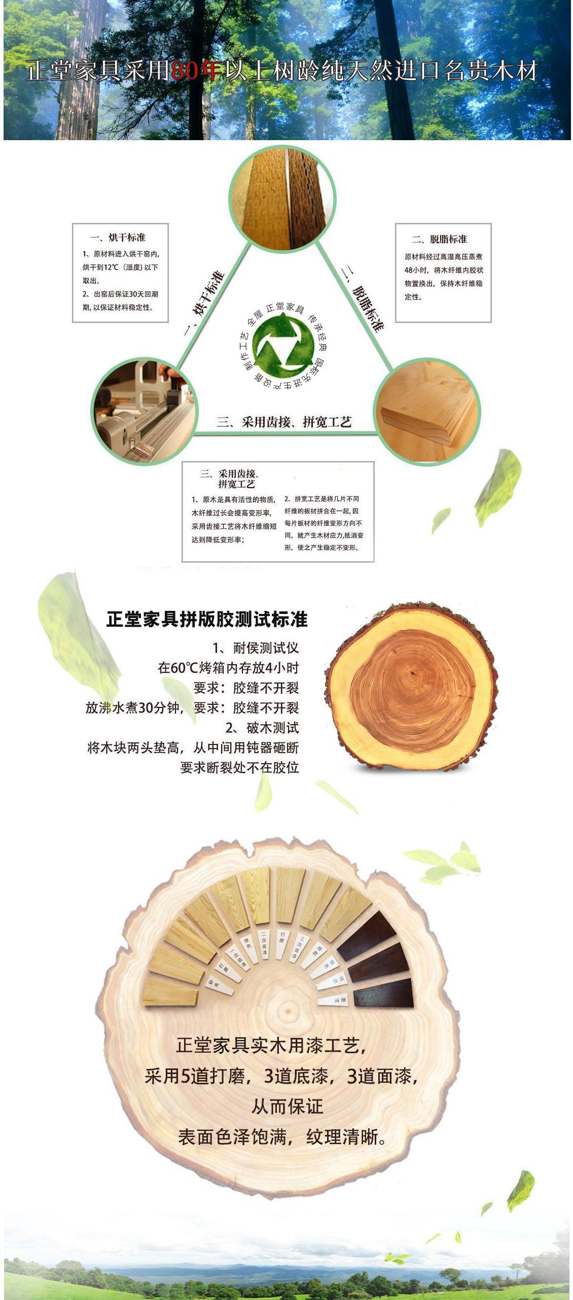 正堂实木家具选材用料